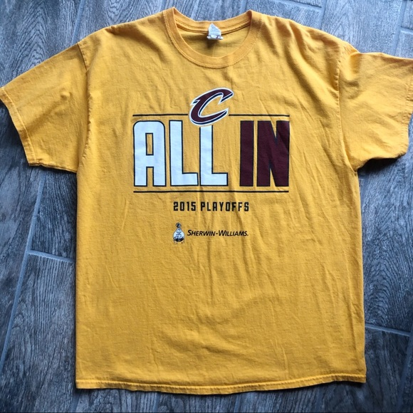 Other - 3/$20 Cleveland Cavs Yellow 2015 Playoffs Tee